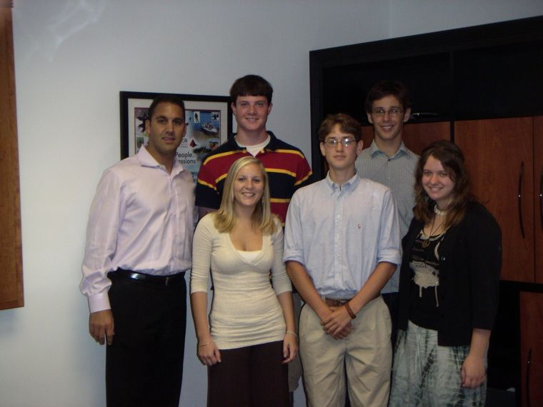 Class of 2007: Front (l to r): Jessica Abramovich, Zach Helft, Rhiannon Ledwell back- John Liporace, Josh Magisano, Jesse Youngman