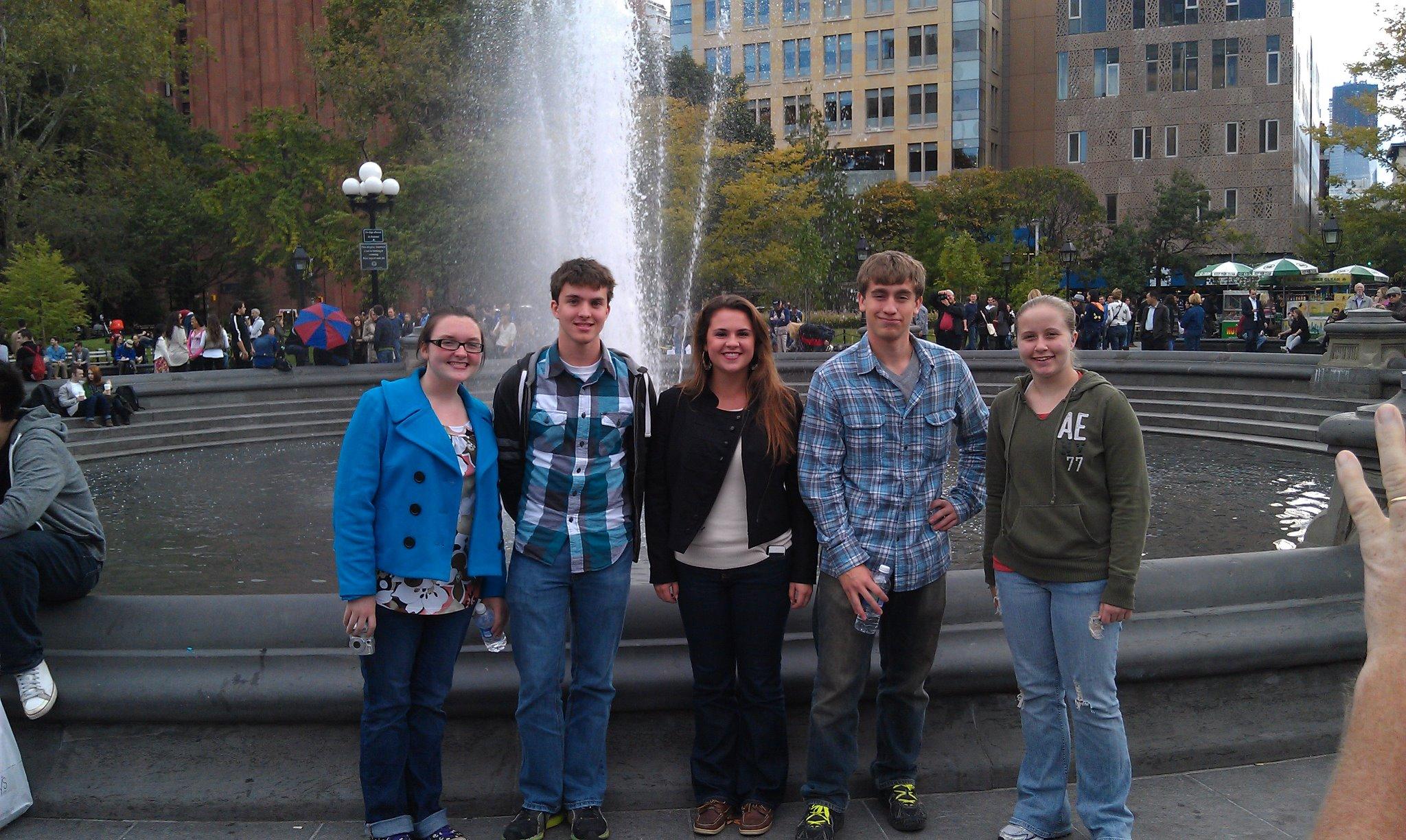 Class of 2012- (l to r): Mattie Blair, Brendan Gleason, Emily Hoag, Michael Merwin, Lauren Conte