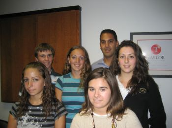 Class of 2008- Back (l to r): Brandon Foster, Amanda Baker, John Liporace, Front (l to r): Alisha Somma, Christina Kovage, Kathleen Hayden